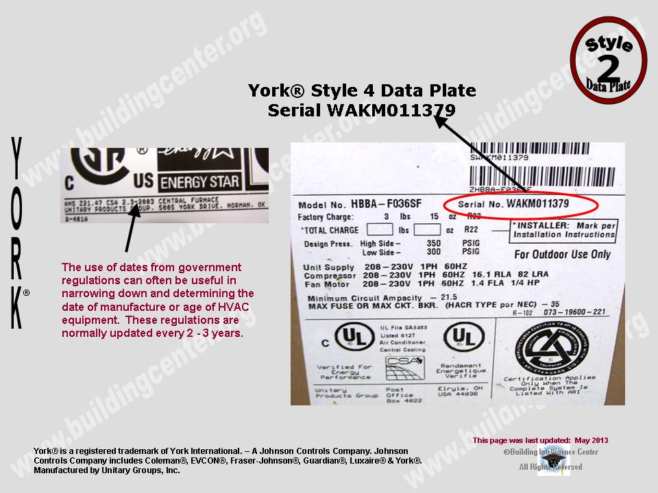 york chiller serial number lookup